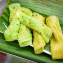 7. Green coconut crepes