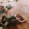 5. Hip openers at Flowers and Fire Yoga