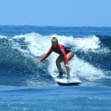 4. Learning how to surf Bali