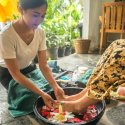 2. Washing feet at Sang spa Ubud