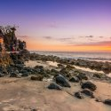 8. Sunset Pura Batu Bolong in Lombok