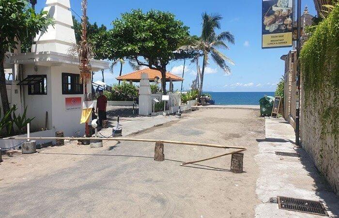 bali lockdown empty beach