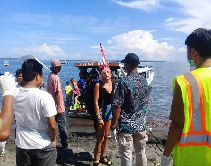 testing passengers for COVID-19 speed boat gili islands