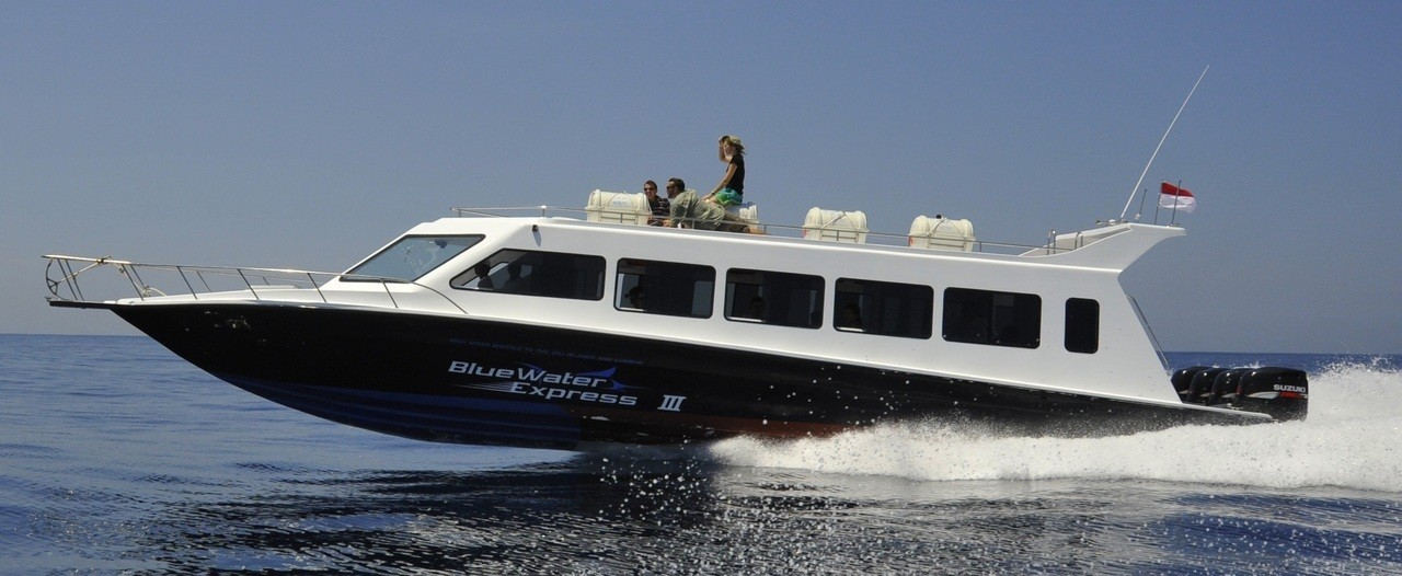 fast boat to the Gili islands