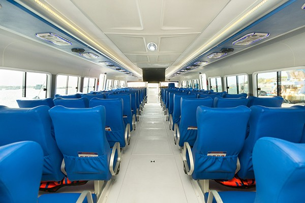 Blue Water Express inside seating