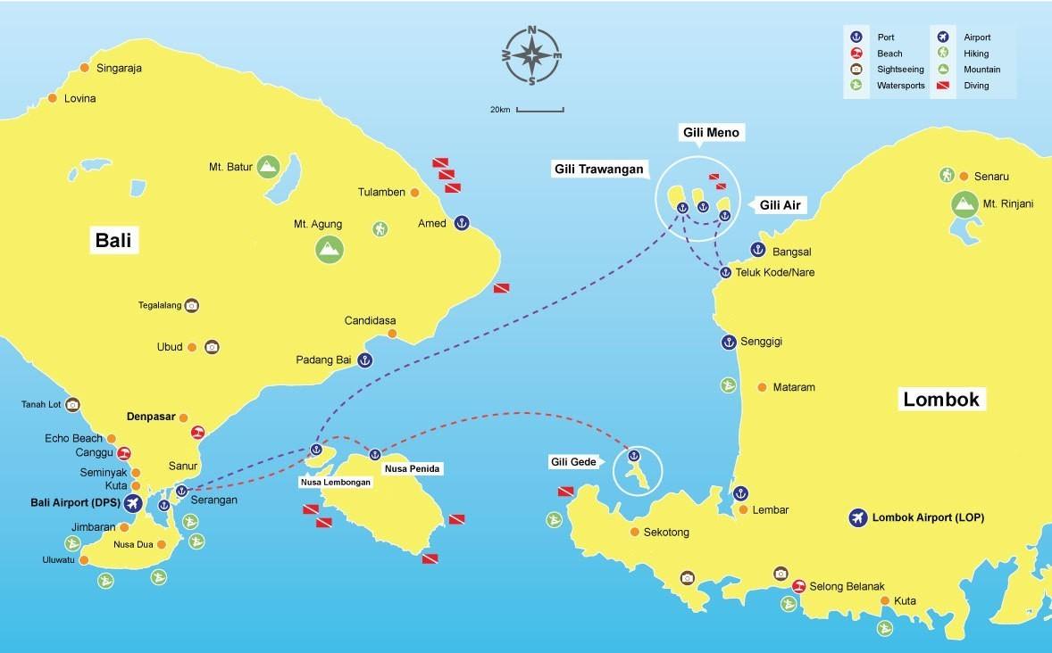Speed boat Bali to Lombok: Fast boat Bali to Lombok - Gili