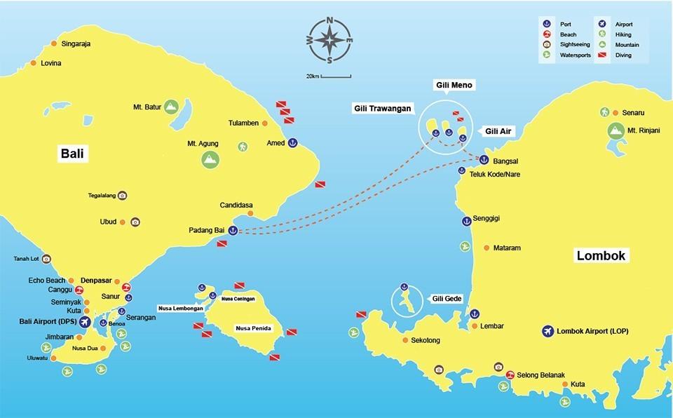Bali Karte Canggu.Gili Gili Fast Boat From Serangan And Padang Bai To The Gili Islands