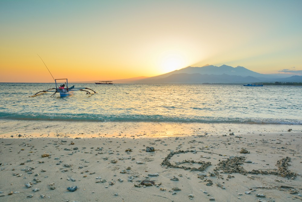 Gili Air beach sunset